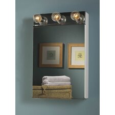 """Styleline 18"""" x 28"""" Surface Mount Medicine Cabinet with Lighting"""