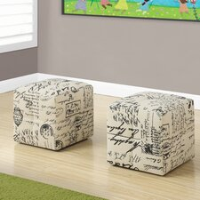 Juvenile Vintage French Ottoman (Set of 2) by Monarch Specialties Inc.