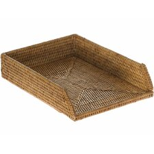 la jolla handwoven rattan stackable letter tray