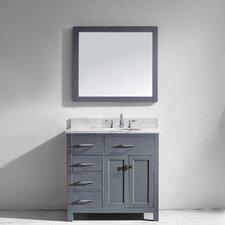 Caroline Parkway 36 Single Bathroom Vanity Set with Mirror by Virtu USA