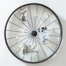 Vintage Wheel Photo Holder
