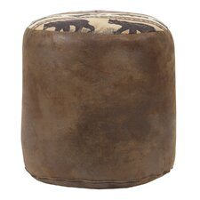 Sierra Lodge Tapestry Pouf Ottoman by American Furniture Classics