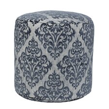 Yorkshire Turquoise Tapestry Pouf Ottoman by American Furniture Classics