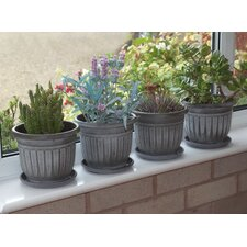 Round Plant Pot (Set of 4)