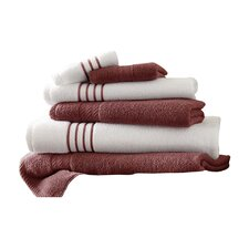 Lapeer Superior Combed Cotton 6 Piece Striped Towel Set