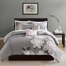 Serena 6 Piece Reversible Duvet Cover Set