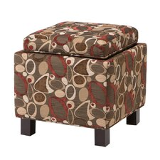 Shelley Square Storage Ottoman in Geometric Brown by Madison Park