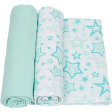 Stars 2 Piece Swaddle Blanket Set