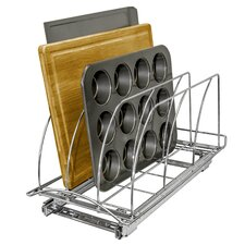 Lynk Professional® Roll Out Cutting Board, Bakeware, and Tray Organizer - Pull Out Kitchen Cabinet Rack