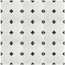 """Valencia 13.12"""" x 13.12"""" Ceramic Field Tile in Jet Blanco"""