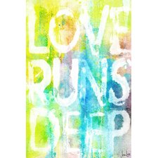 Love Runs Deep' by Jen Lee Painting Print on Wrapped Canvas by Marmont Hill