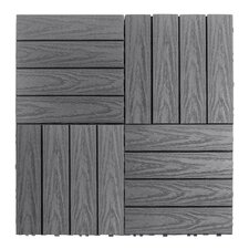 "Naturale Composite 12"" x 12"" Interlocking Deck Tiles in Westminster Gray"