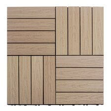 "Naturale Composite 12"" x 12"" Interlocking Deck Tiles in Canadian Maple"