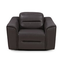 Leamon Leather Club Chair by Latitude Run