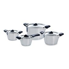 Classic 4-Piece Stainless Steel Cookware Set