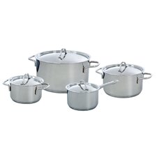 Profiline 4-Piece Stainless Steel Cookware Set