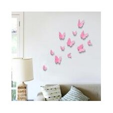 12 Piece 3D Butterfly Wall Stickers