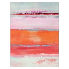 Omar Coral Gel Coated Painting Print on Wrapped Canvas