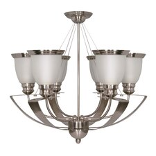Palladium 6-Light Shaded Chandelier