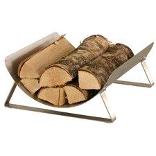 Holzregal aus Edelstahl