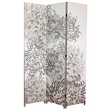 71 x 48 Bota Chrysanthemum 3 Panel Room Divider by nexxt Design
