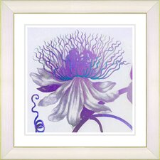 'Pastel Bonobo Flower' by Painting Print Framed Painting Print in Purple