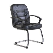 Lunar Leather Faced Visitor Chair