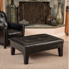 Leather Storage Ottoman by Andover Mills