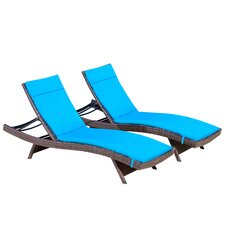 Larry Chaise Lounge with Cushion (Set of 2)