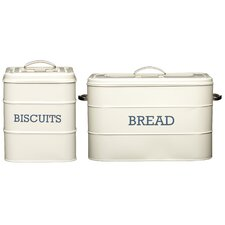 Living Nostalgia 4-Piece Biscuit and Bread Tin Set