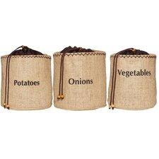 Natural Elements 3-Piece Vegetable Storage Sacks Set