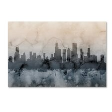 """Chicago Illinois Skyline V"" by Michael Tompsett Graphic Art on Wrapped Canvas"