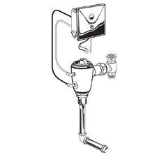 Concealed 1.0 GPF Urinal Flush Valve with Back Spud