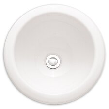 Vitreous China Circular Undermount Bathroom Sink with Overflow