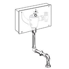 Concealed 0.5 GPF Multi-AC Urinal Wrist Blade Flush Valve with Top Spud