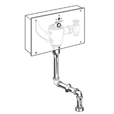 Concealed 1.0 GPF Multi-AC Urinal Wrist Blade Flush Valve with Top Spud