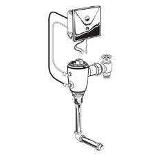 Concealed 0.5 GPF AC Urinal Flush Valve with Back Spud