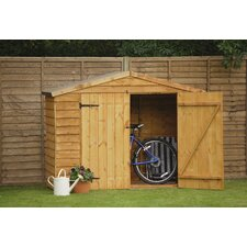 7 Ft. W x 3 Ft. D Wooden Bike Shed