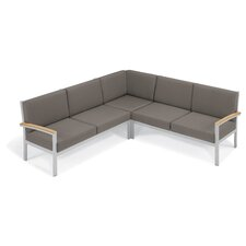 Farmington Water Resistant Arm Sectional with Cushion