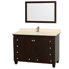 Acclaim 48 Single Espresso Bathroom Vanity Set with Mirror by Wyndham Collection