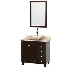 Acclaim 36 Single Espresso Bathroom Vanity Set with Mirror by Wyndham Collection