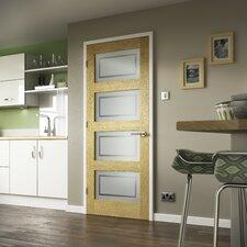 Shaker Style Oak Glazed Internal Door