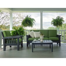 3 Piece Lounge Seating Group with Cushion by Hershy Way