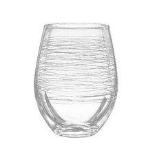 Graffiti 20 Oz. Stemless Wine Glass (Set of 4)