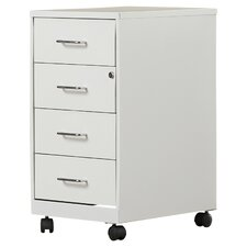 4 Drawer Steel Mobile File Cabinet