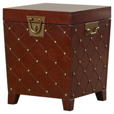 Evienne Nailhead Trunk End Table by House of Hampton