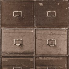 "Contemporary Vintage Industrial File Cabinet 32.97' x 20.8"" Wallpaper"