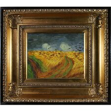 'Wheat Field with Crows' by Vincent Van Gogh Print on Canvas