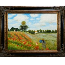 Poppy Field in Argenteuil by Claude Monet Framed Painting