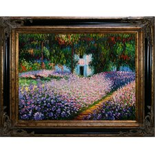 Artists Garden at Giverny by Claude Monet Framed Painting